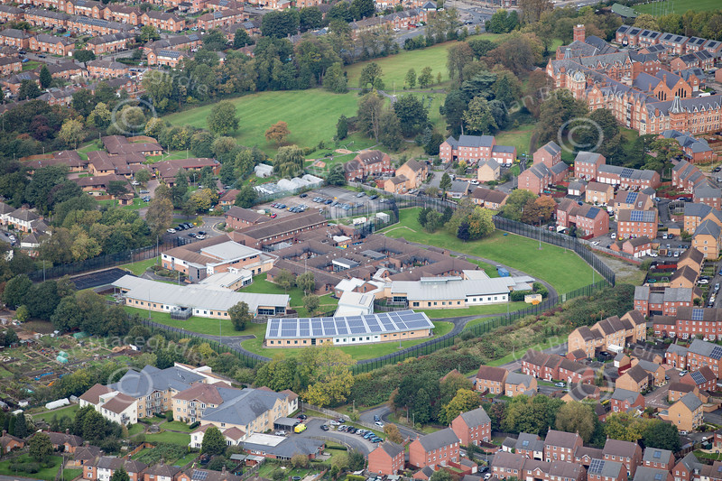 Aerial photo of Arnold Lodge Hospital.