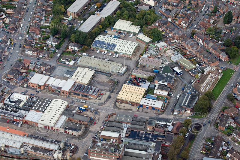 Aerial photo of Robinson Road in Leicester.