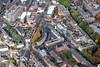 Aerial photo of The Crescent in Leicester.