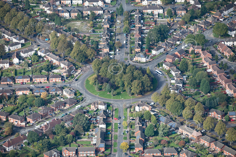 Aerial photo of Newfields Avenue.