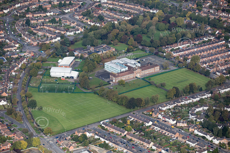 Aerial photo of Fullhurst Community College.