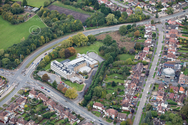 Aerial photo of Nuffield Health in Leicester.