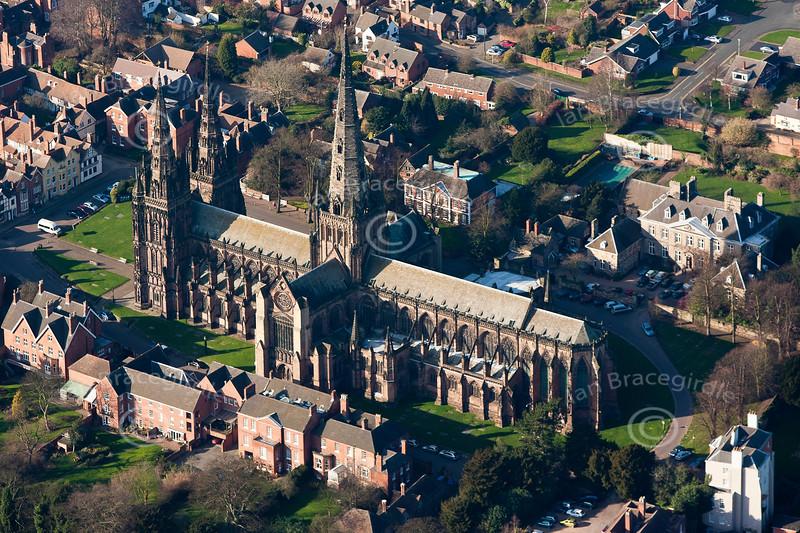 Aerial photo of Lichfield.