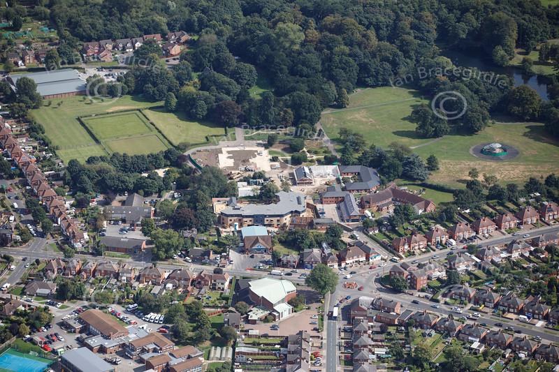 Aerial photo of Boultham Park Road.