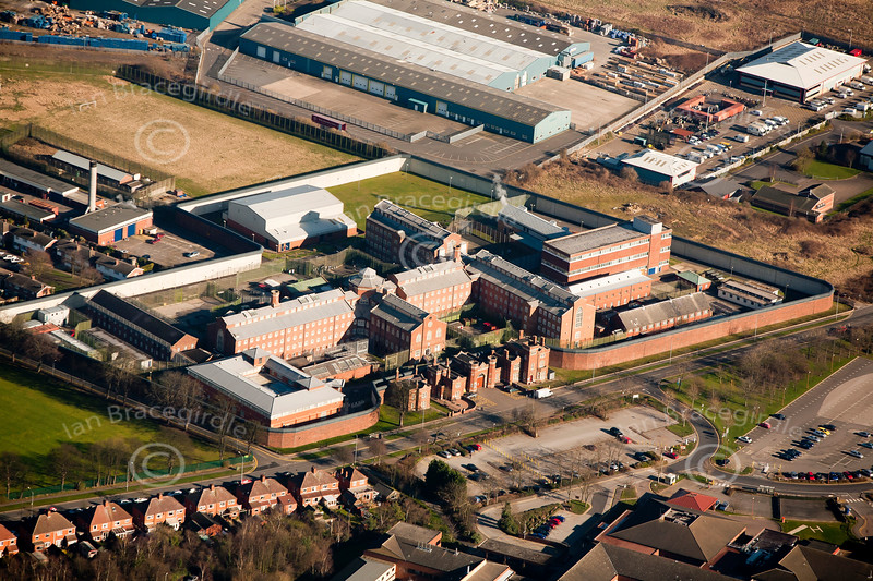 Lincoln Prison from the air.