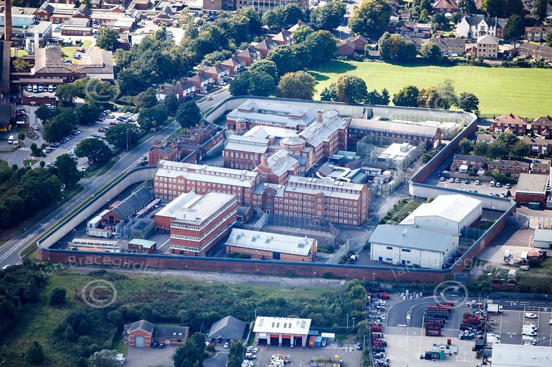 Aerial photo of Lincoln Prison.