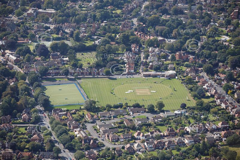 Aerial photo of Lindum Sports Ground.