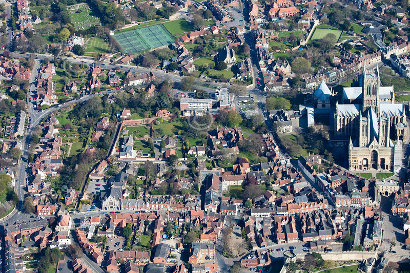 Lincoln from the air.