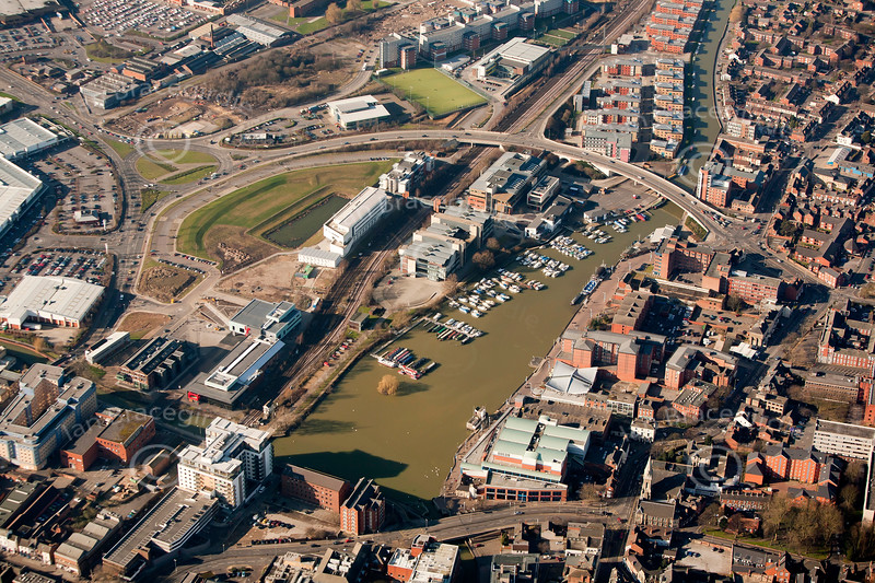 Brayford Pool  from the air.