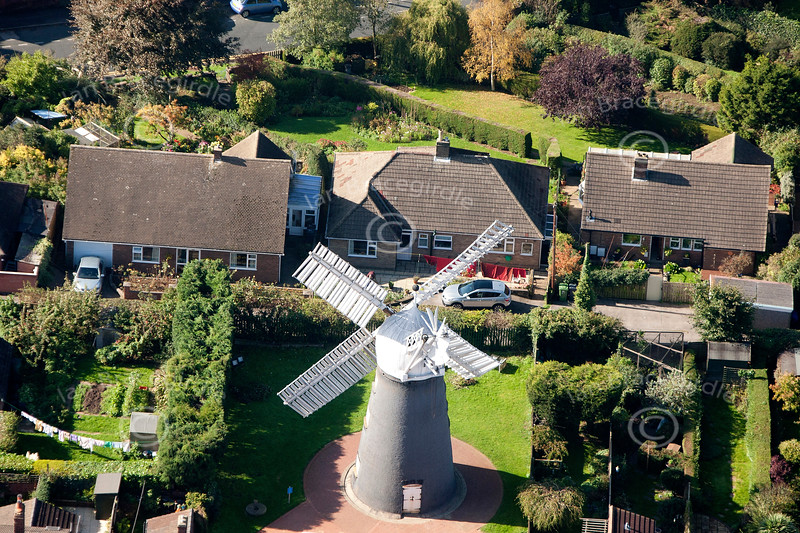 Ellis Windmill, Lincoln  from the air.