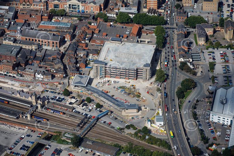 Aerial photo of St Mary's car park.