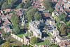 Aerial photo of Bishops Palace Lincoln.