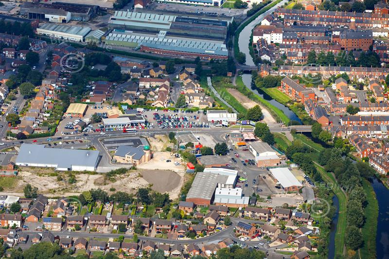 Aerial photo of Dixon Street.