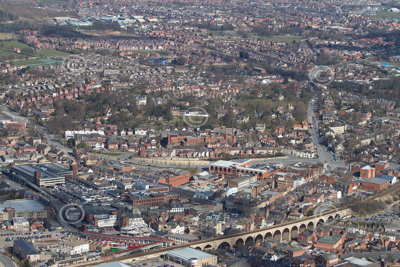 Mansfield from the air.