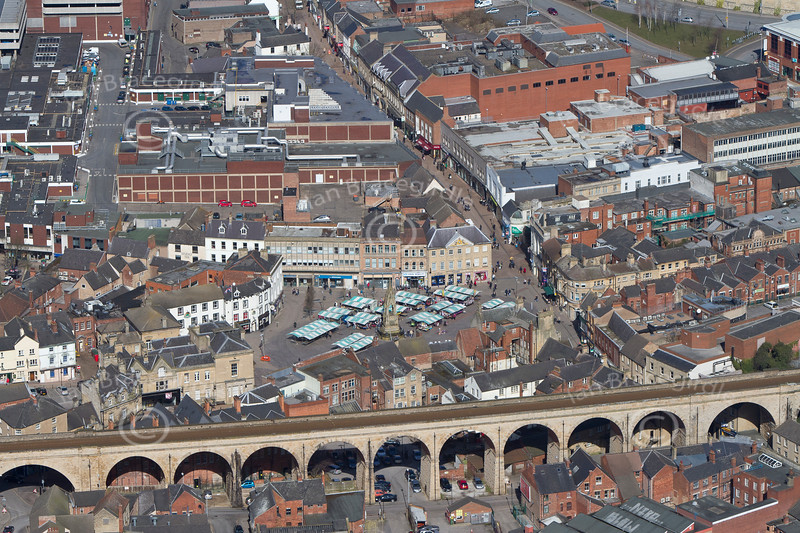 Mansfield Railway Viaduct from the air.