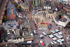 Big Wheel in Mansfield market place from the air.