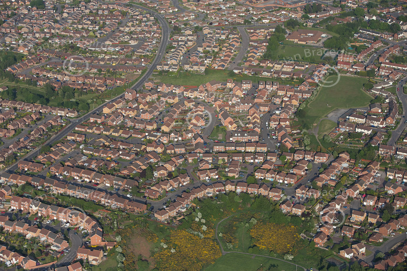 Mansfield Woodhouse from the air.