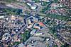 Aerial photo of Market Harborough.