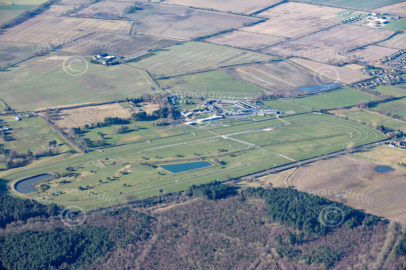 Aerial photo of Market Rasen Racecourse-2