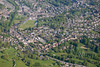 An aerial view of Matlock in Derbyshire.