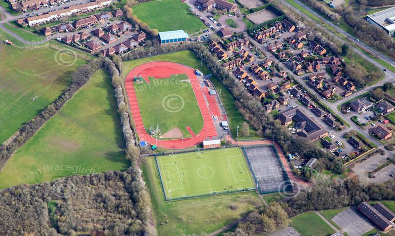 Aerial photo of Milton Keynes.