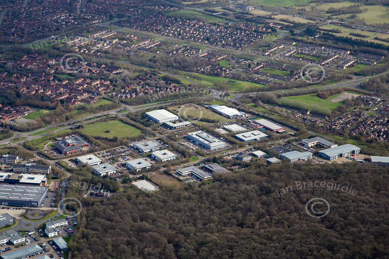 Aerial photo of Milton Keynes.