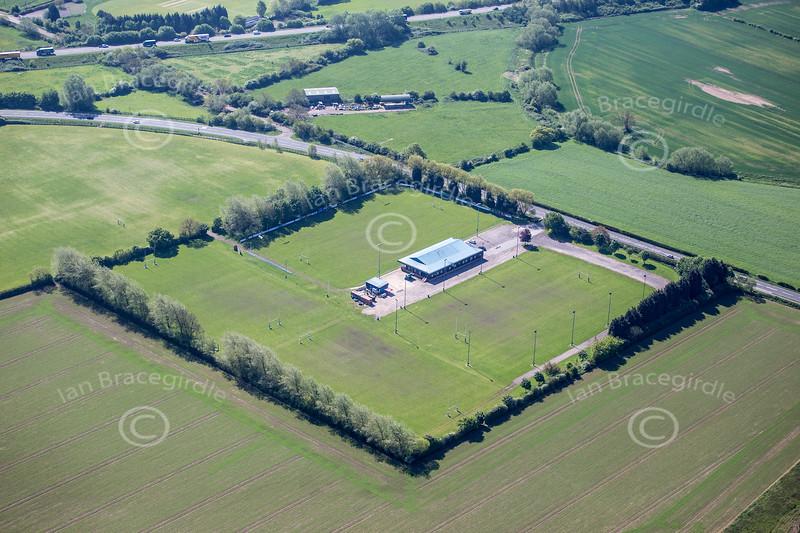 Aerial photo of Newark Rugby Club.