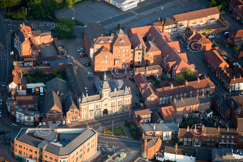 An aerial photo of The Old Brewery in Newark.