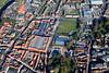Aerial photo of Newark in Nottinghamshire.