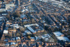 Aerial photo of Newark in Nottinghamshire in the snow.