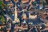 An aerial photo of Newark Parish Church.