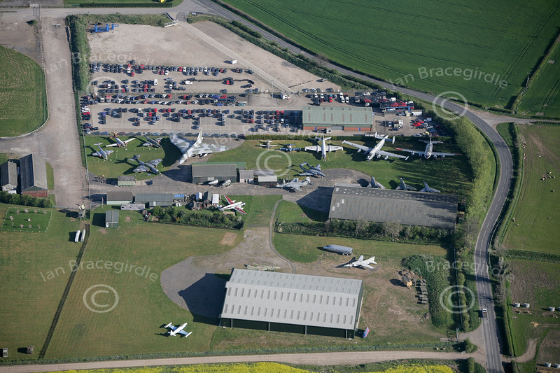 Aerial photo of Newark Air Museum.