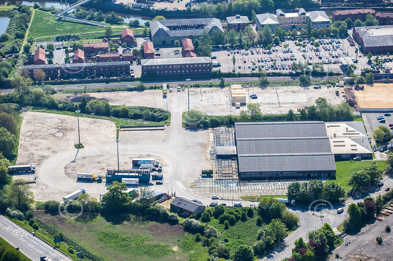 Aerial photo of Newark Livestock Market.