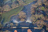 Aerial photo of a weir on the River Trent in Newark.