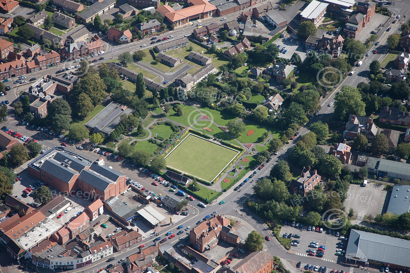 Aerial photo of Newark Bowling Green.