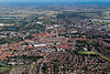 Aerial photo of Newark in Nottinghamshire.