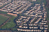 An aerial photo of Beacon Hill housing estates in Newark on Trent in Nottinghamshire.