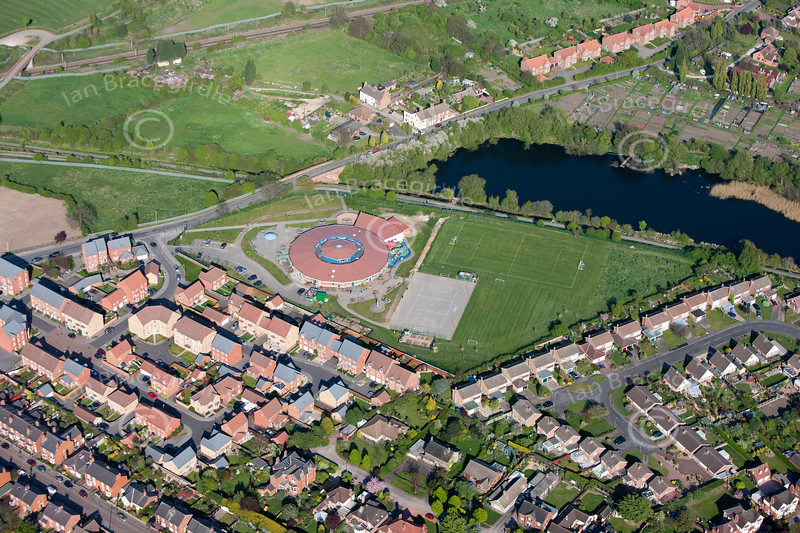 An aerial photo of Barnby Road Primary School.
