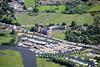 An aerial photo of Newark Marina.