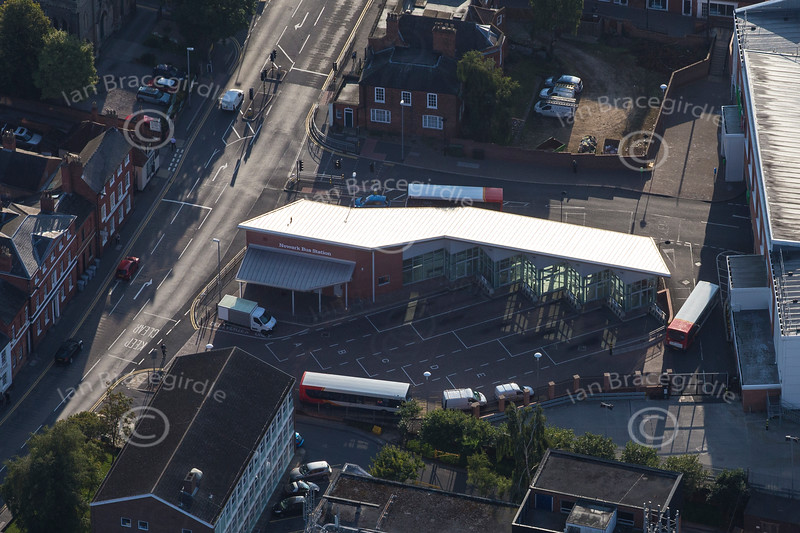 Aerial photo of the New bus station in Newark.