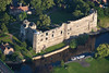 An aerial photo of Newark Castle in Nottinghamshire.