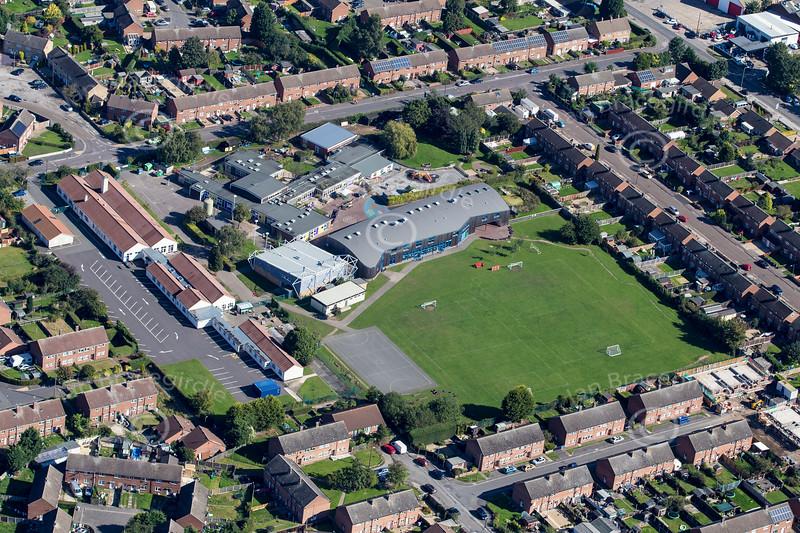Aerial photo of Bowbridge School in Newark.