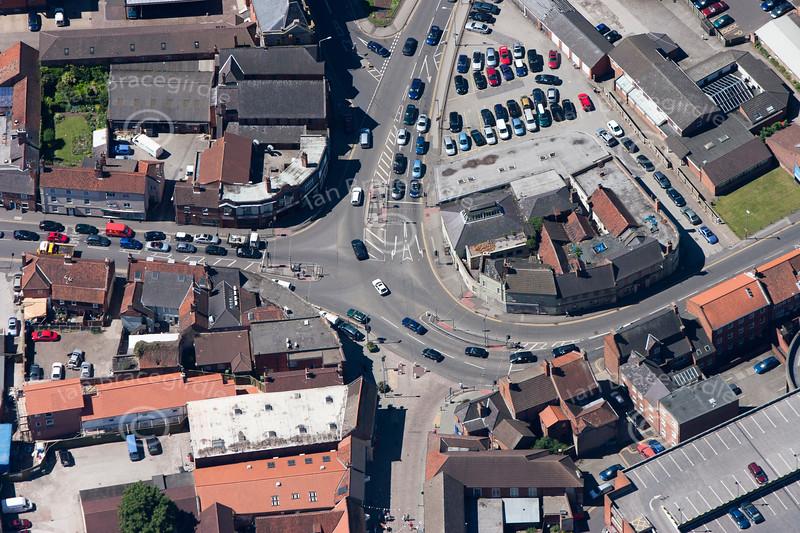 An aerial photo of Beaumond Cross in Newark.