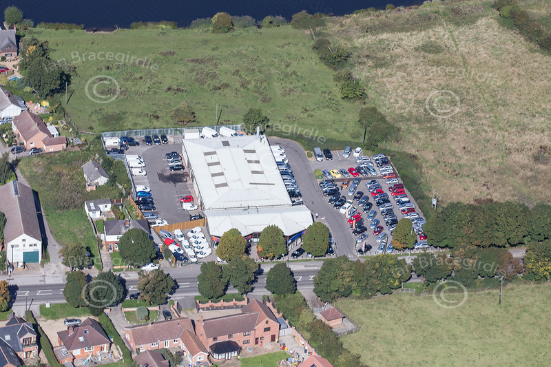An aerial photo of Farndon Road in Newark.