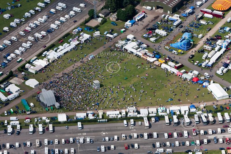 An aerial photo of Newark Showground.