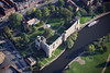 An aerial photo of Newark Castle.