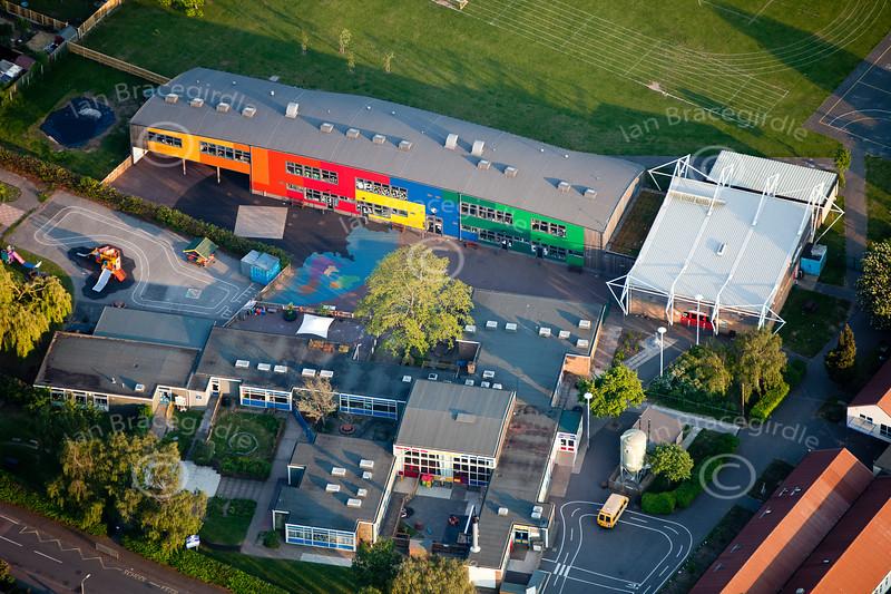 Aerial photo of Bowbridge School