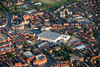 An aerial photo of Newark town center in Nottinghamshire.