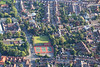 Aerial photo of Newark tennis courts.