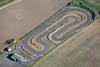 Aerial photo of Newark Kart Racing Track.